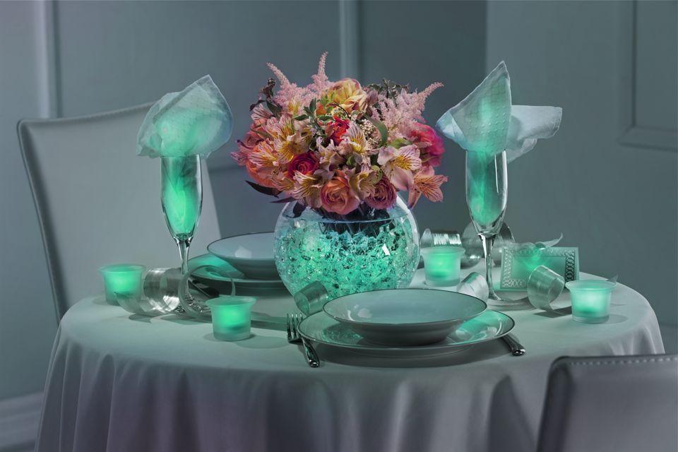Decorative lights for weddings - Gallery Diy Teal Wedding Centerpieces