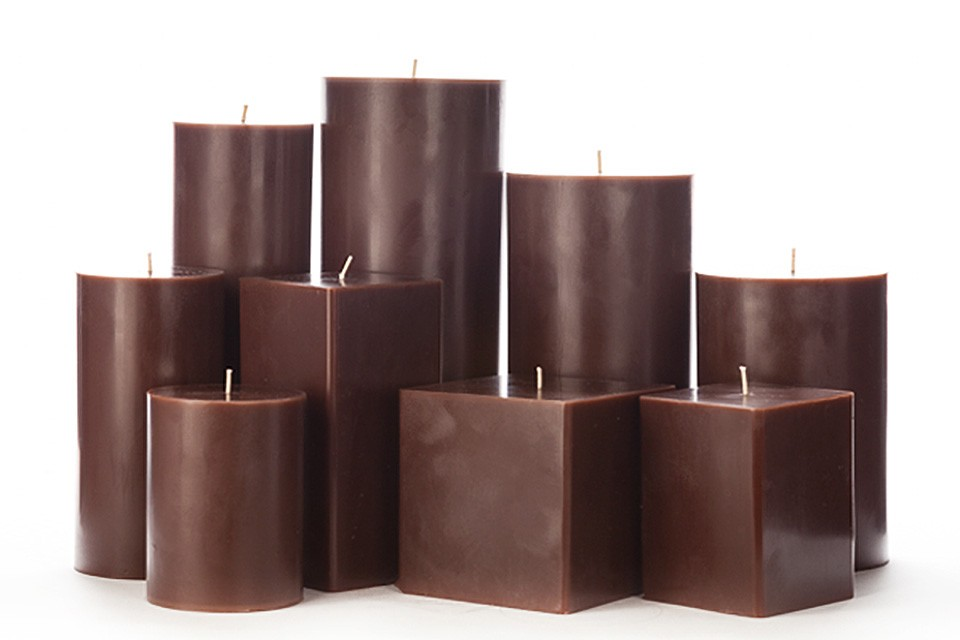 valentine gift ideas large brown pillar candles 12450
