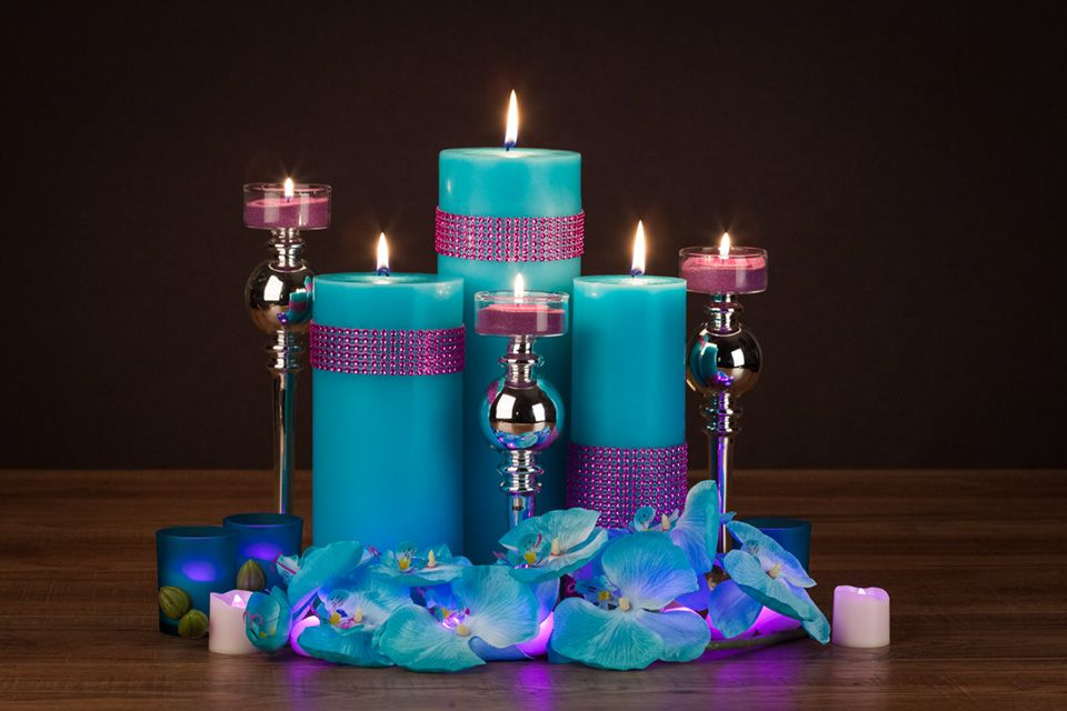 Turquoise And Hot Pink DIY Centerpiece