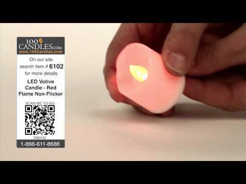 Battery Operated LED Votive Candle - Red Flame