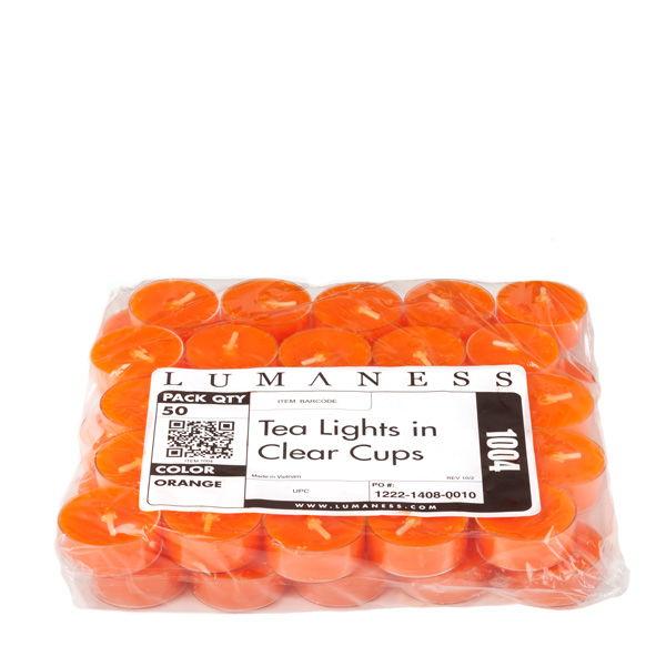 Orange Tea Lights