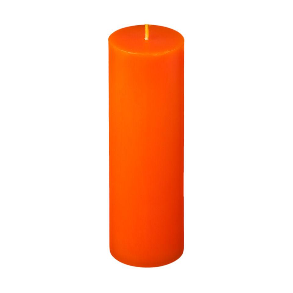 2x6 Orange Pillar Candle