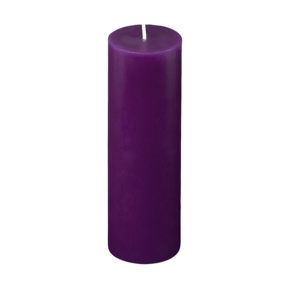 2x6 Purple Pillar Candle
