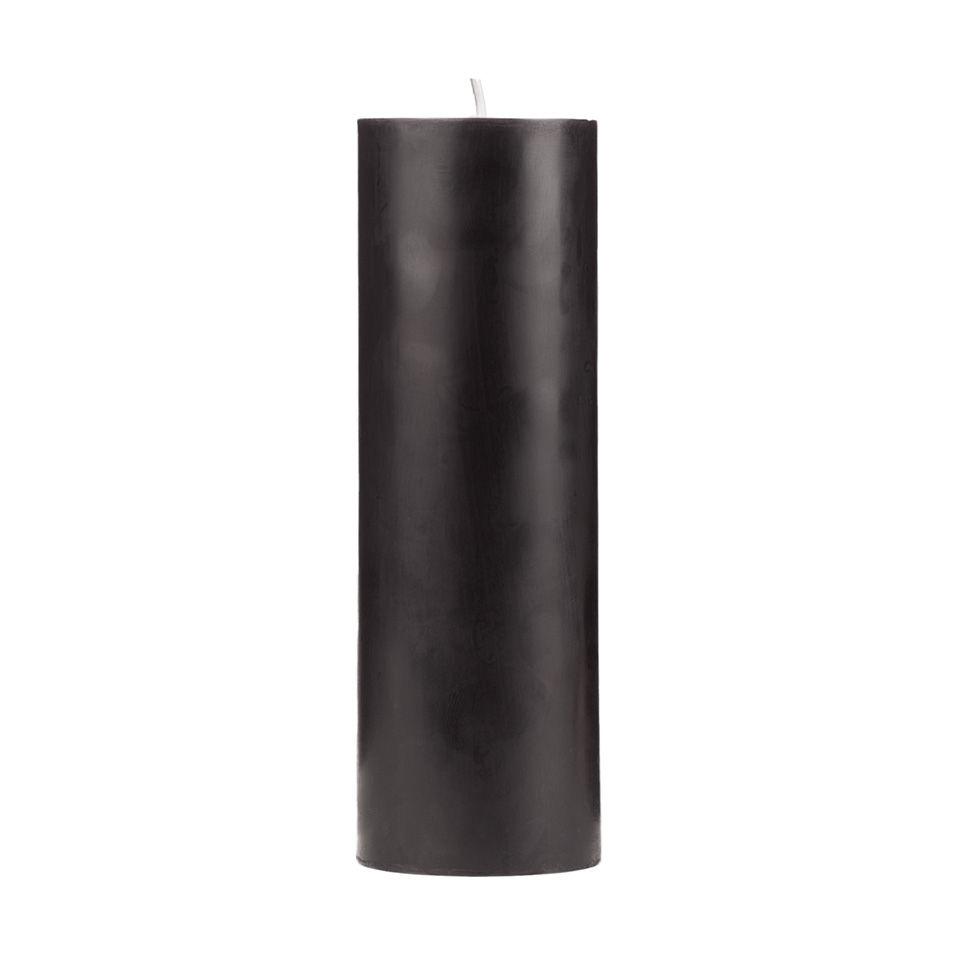 2x6 Black Pillar Candle