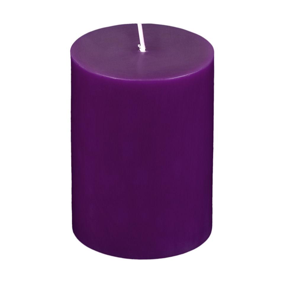 3x4 Purple Pillar Candle