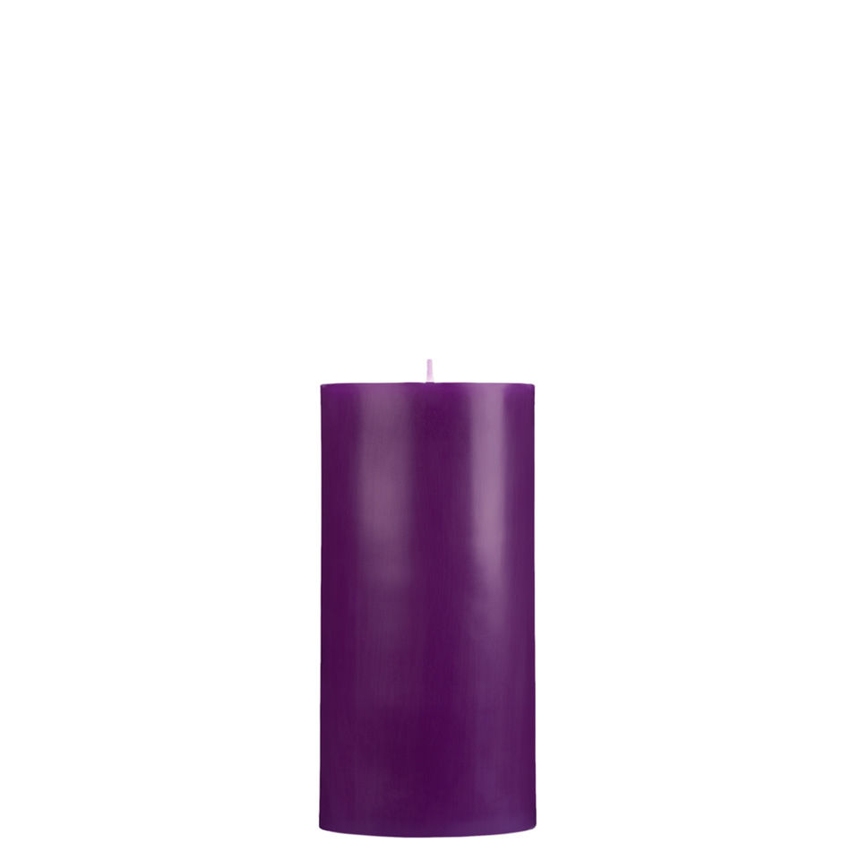 3x6 Purple Pillar Candle