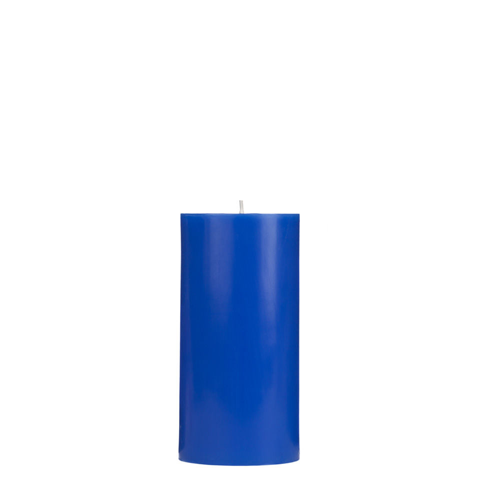 3x6 Blue Pillar Candle