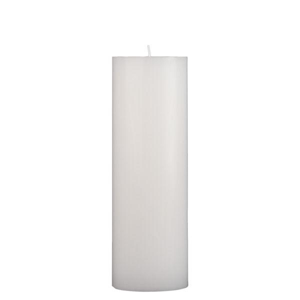 3x9 White Pillar Candle