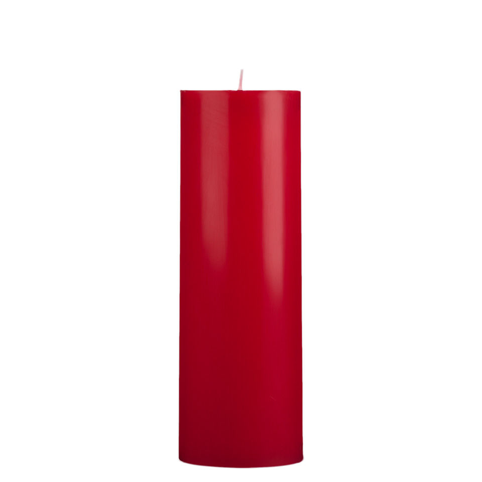 3x9 Red Pillar Candle