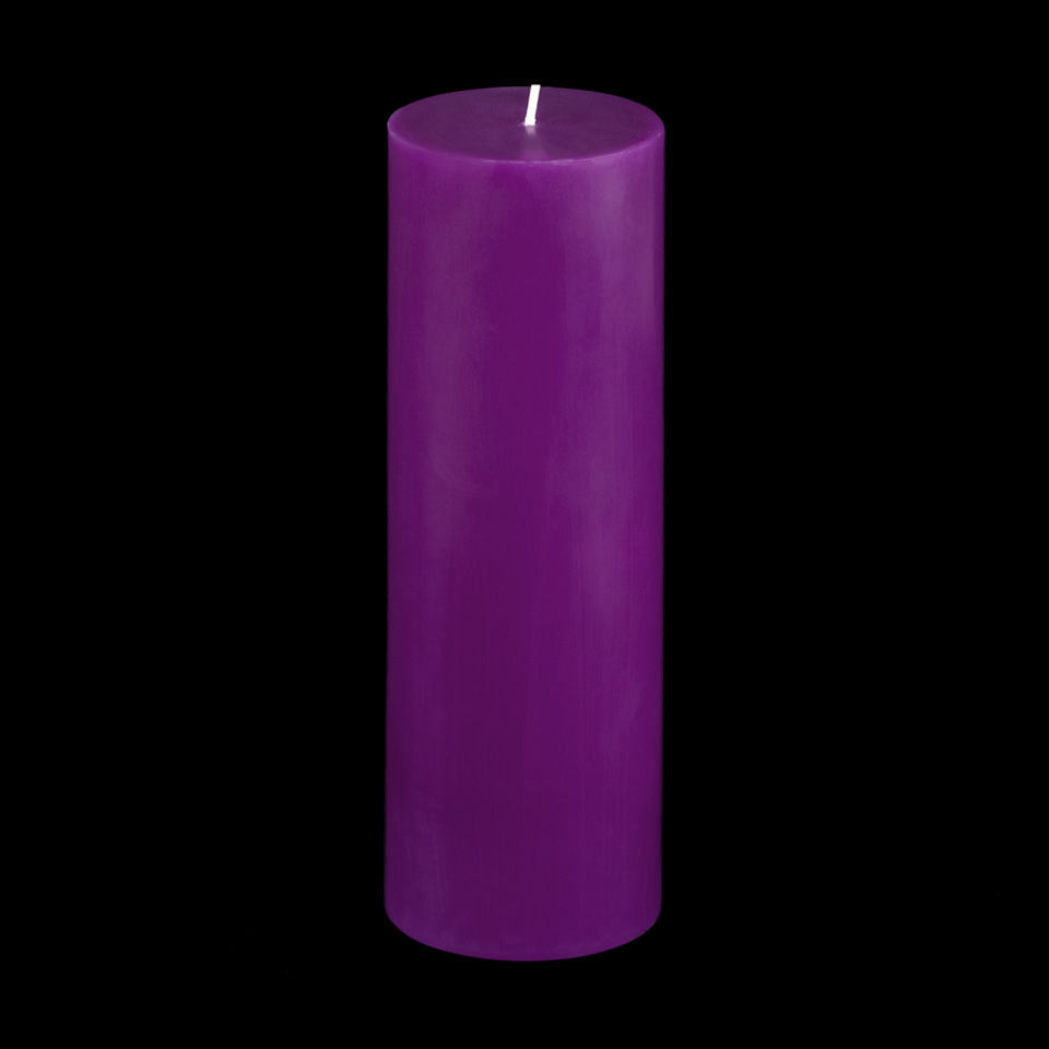 3x9 Purple Pillar Candle