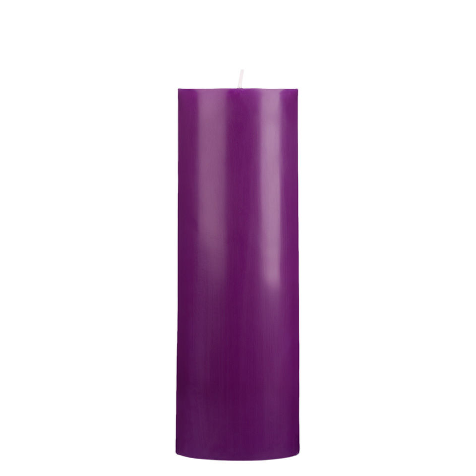 3x9 Purple Pillar Candle