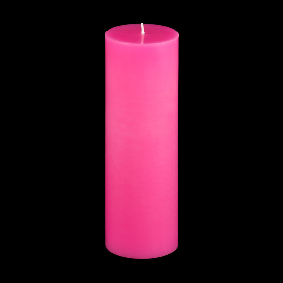 3x9 Hot Pink Pillar Candle