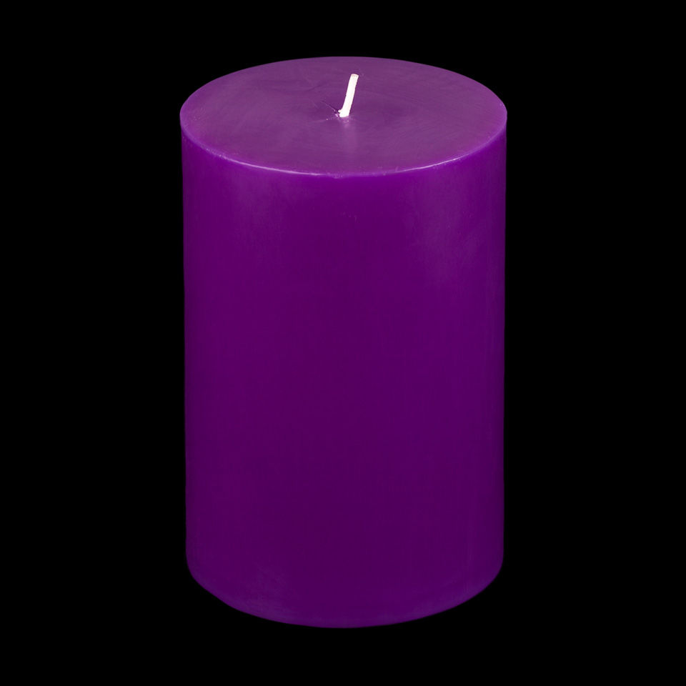 4x6 purple pillar candle