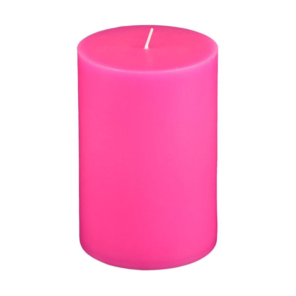 4x6 Hot Pink Pillar Candle