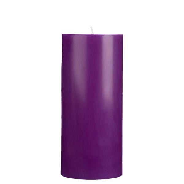 4x9 Purple Pillar Candle
