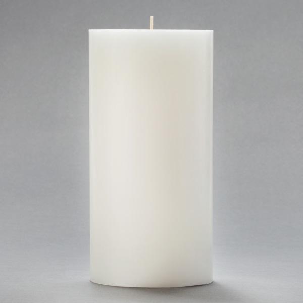 4x8 White Pillar Candle : lgitem20402 from www.100candles.com size 600 x 600 jpeg 57kB