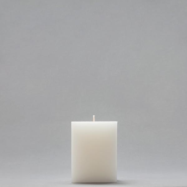 3x3x4 white square pillar candle