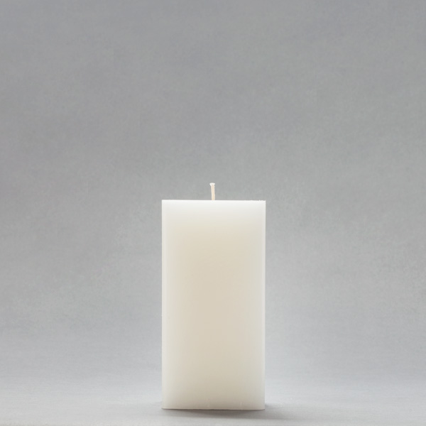 3x3x6 White Square Pillar Candle