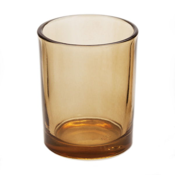 Amber Glass Votive Candle Holder