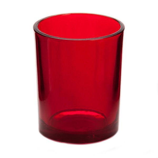red glass votive candle holder. Black Bedroom Furniture Sets. Home Design Ideas