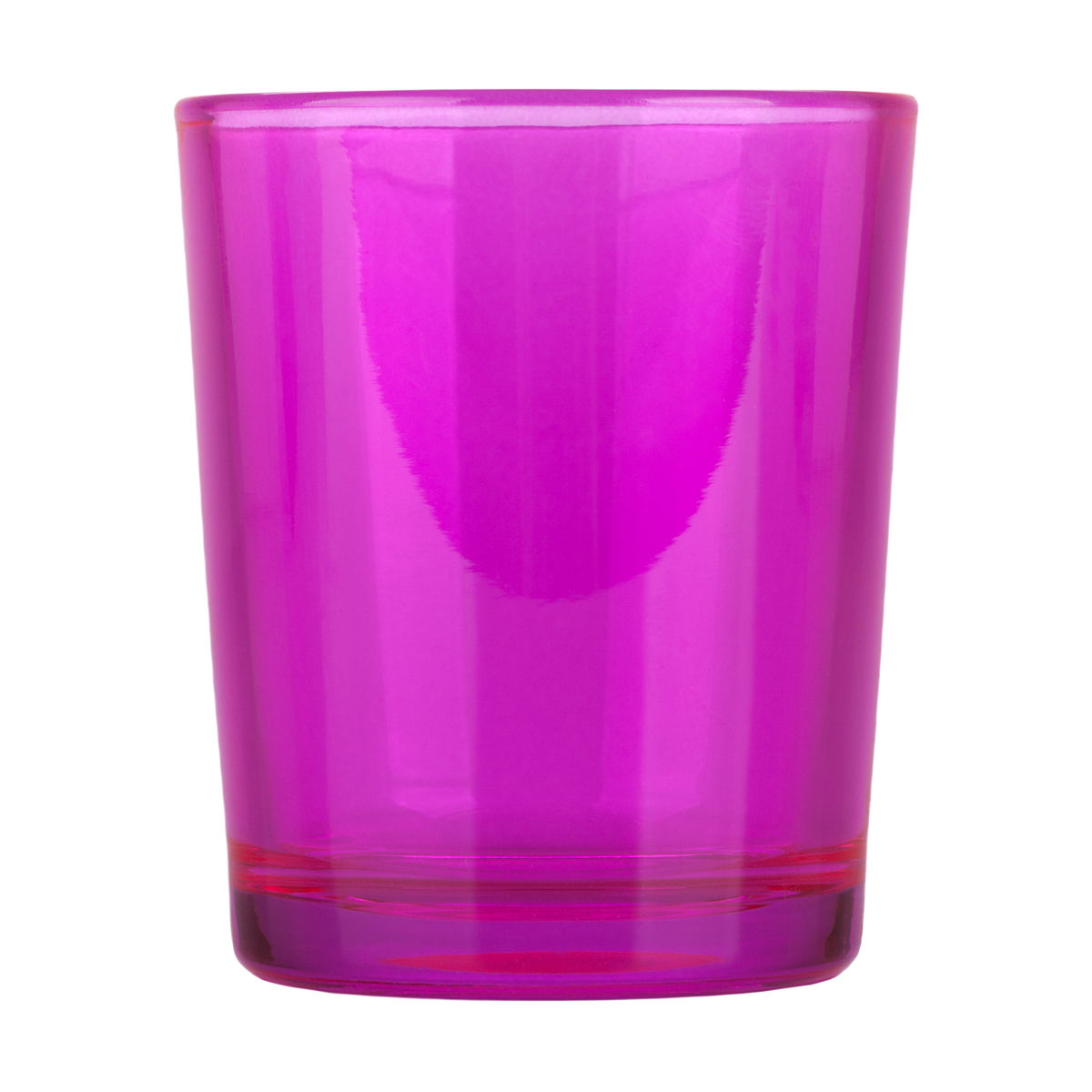 Hot Pink Glass Votive Candle Holder