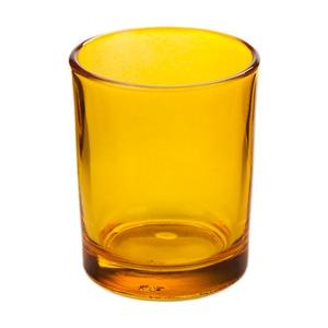 Yellow Gl Votive Candle Holder