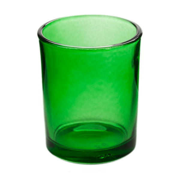 Green Glass Votive Candle Holder