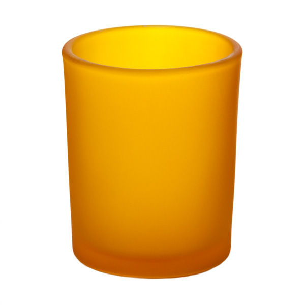 Frosted Yellow Glass Votive Cup