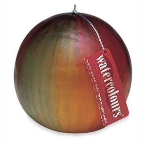 Watercolours Ball Candle - Crimson