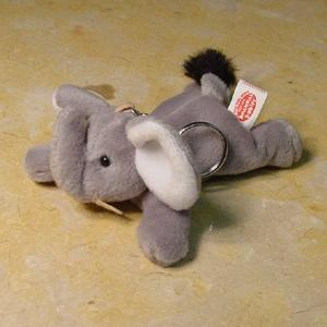 Beanie Filled Elephant Key Ring