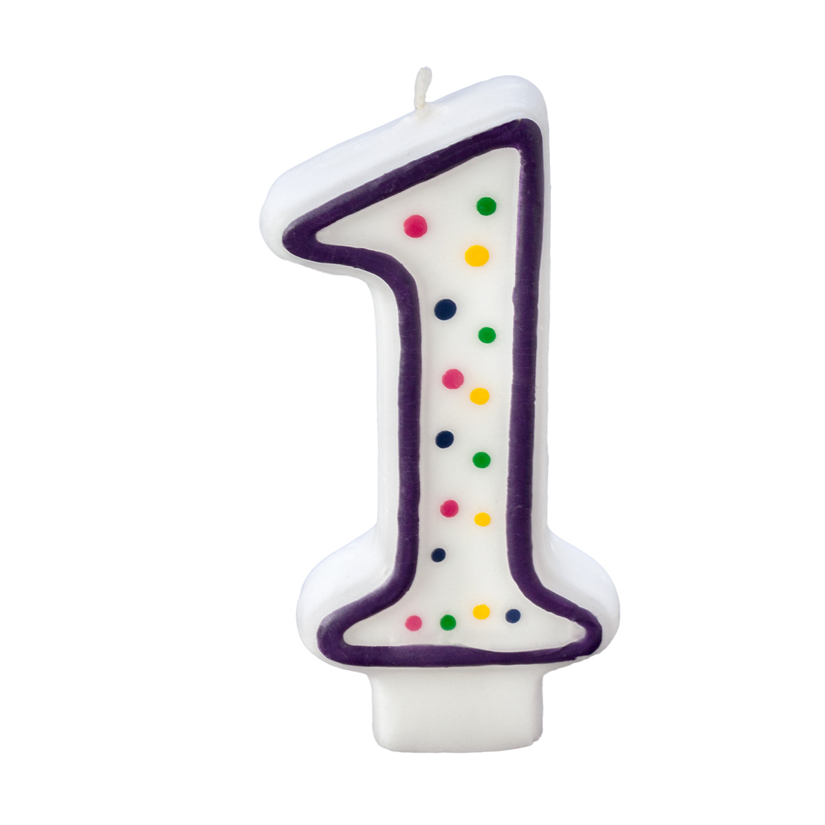 Colorful Birthday Candle Number 1 Polka Dot Number Cake Toppers