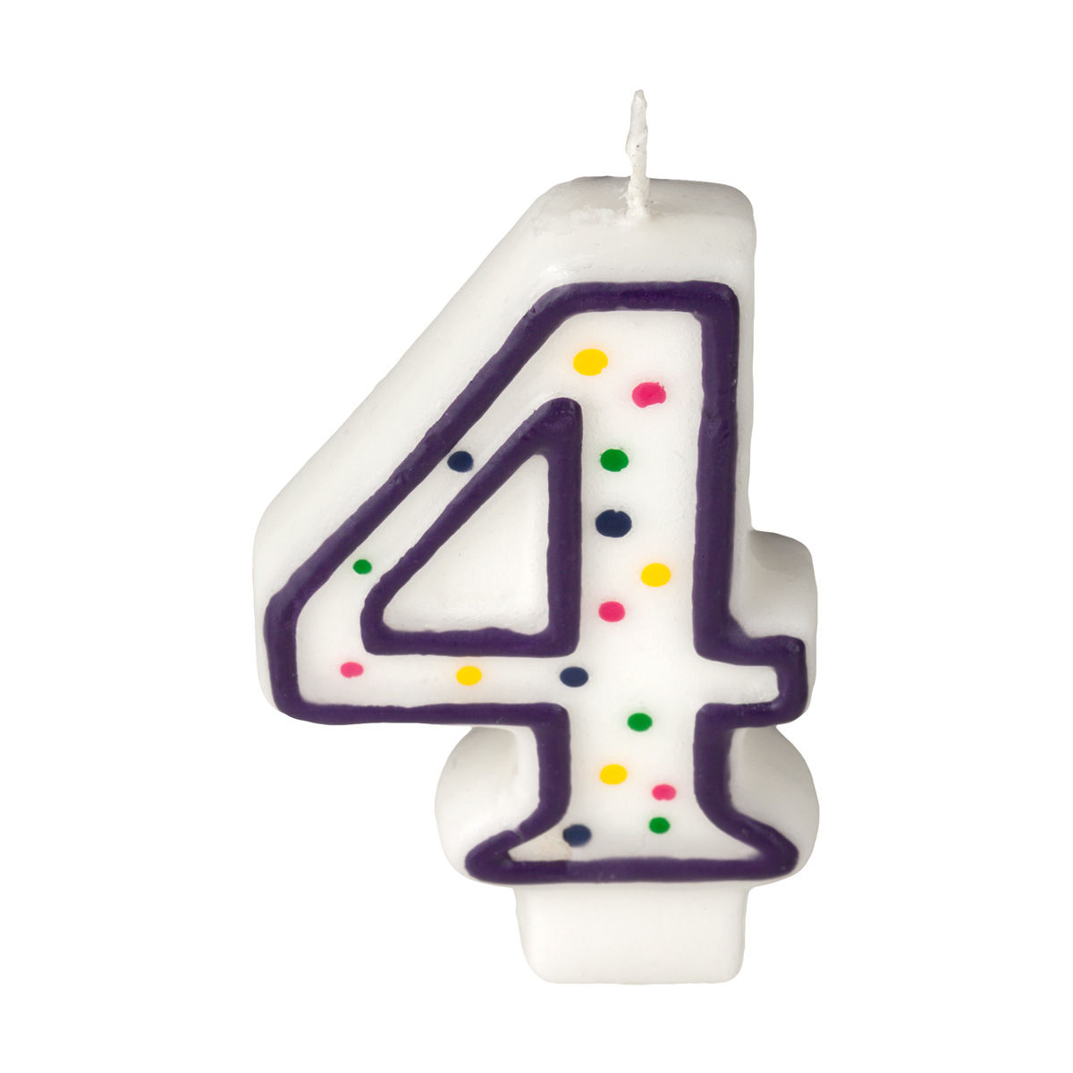 Number 10 Can Warmer ~ Colorful birthday candle number polka dot