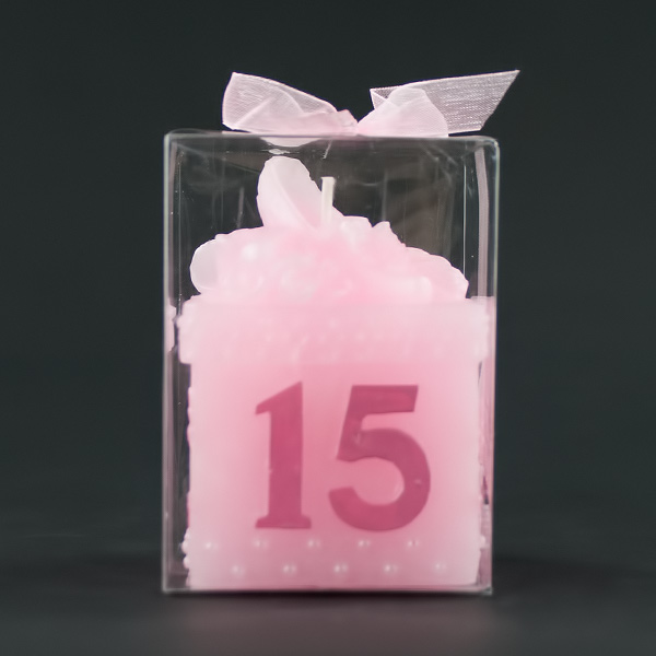 Quinceanera Pink Keepsake Box Candle