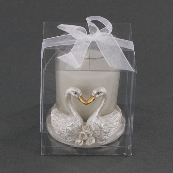 The Love Swans Candle Holder Party Favor
