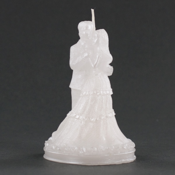 Wedding Couple Dancing White Candle Wedding Party Favor