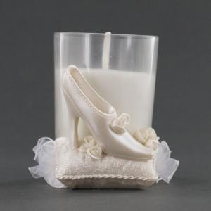 Wedding Shoe On Pillow Candle Holder - Wedding Party Favor
