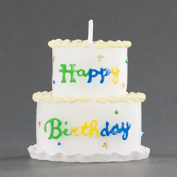 Tier Birthday Cake Candle Party Favor
