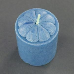 Four Piece Spring Lily Scented Votive Candles Set - Blue