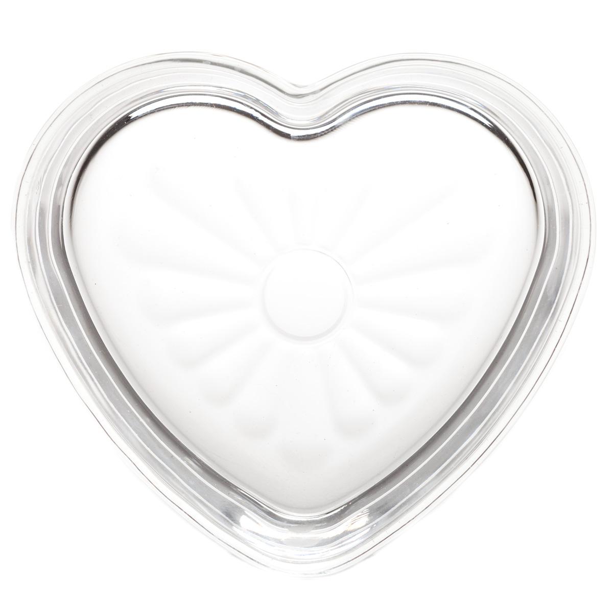 Heart shaped glass dildo