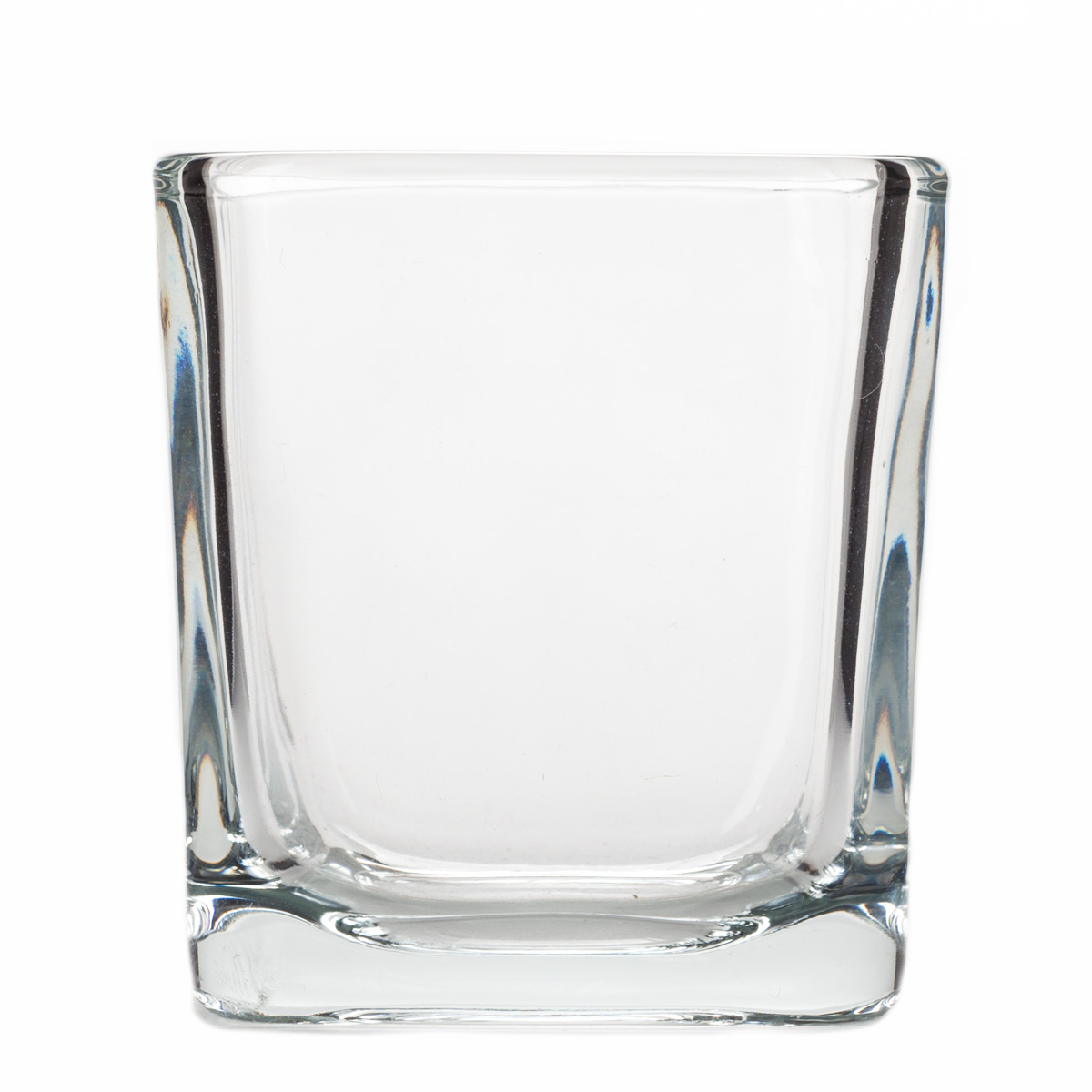 3x3 glass cube votive holder