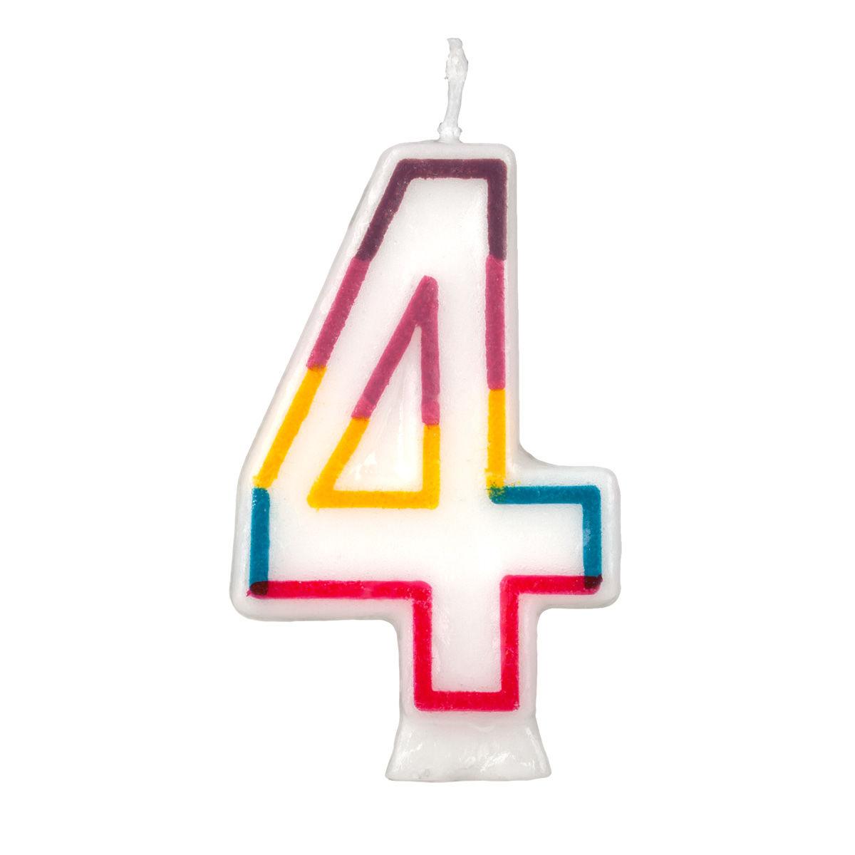 Birthday Cake Number  And Rainbow