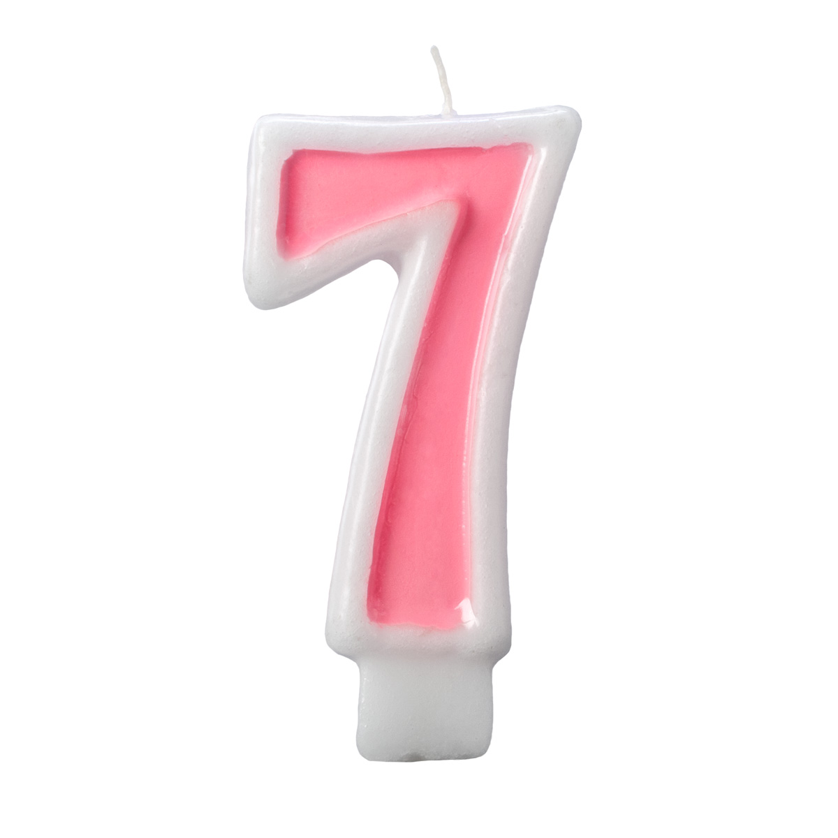 Birthday Candle Number 7 Pink Number Cake Toppers