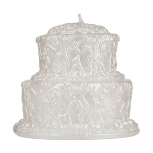 wedding cake candle two tier white wedding cake candle decorated two levels 22154