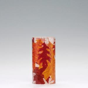 2.5x5 Autumn Pin Oak Leaves Acrylic Luminaries - Round Flower Luminary