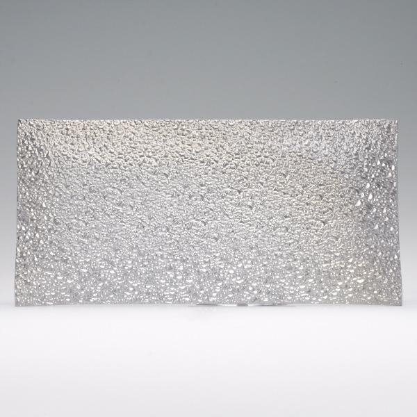 6x13 fuschia hot pink rectangle glass tray for Long rectangular candle tray