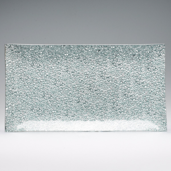 8x15 Silver Rectangle Glass Tray