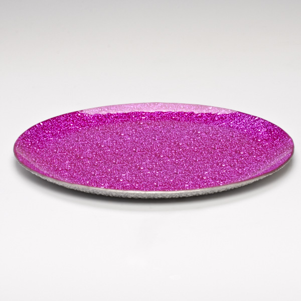 Inch Fuschia Hot Pink Round Glass Holder