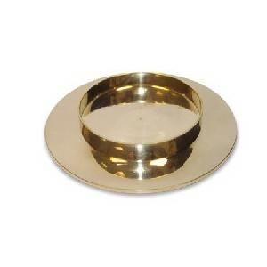 Stockholm 3 Inch Pillar Base - Shiny Brass