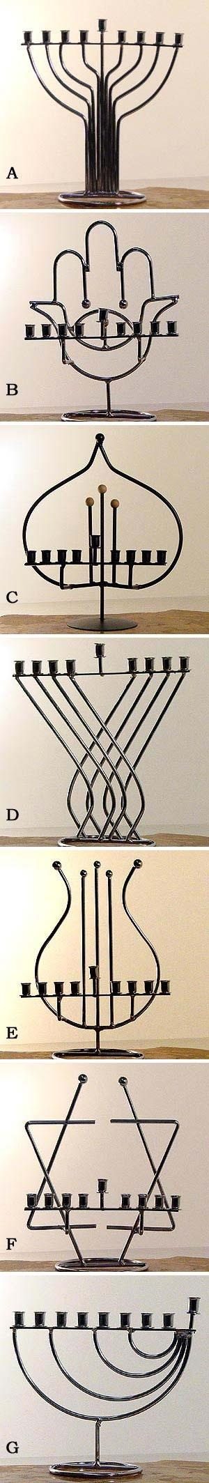 Kabbalistic Menorahs And Chanukiot For Chanukah