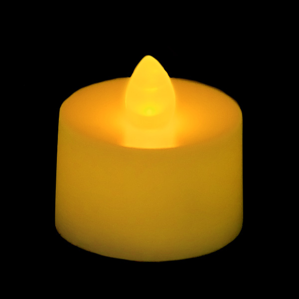battery operated tea light candle amber. Black Bedroom Furniture Sets. Home Design Ideas